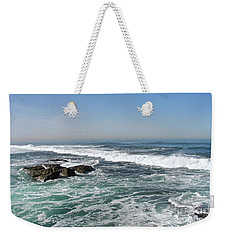 Weekender Tote Bag featuring the photograph Colors Of The Sea by Carol  Bradley