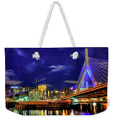 Weekender Tote Bag featuring the photograph Colors Of The Zakim Bridge - Boston, Ma by Joann Vitali