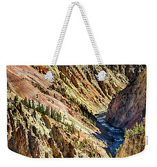Colors Of Yellowstone Canyon Weekender Tote Bag by Shirley Mitchell