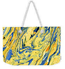 Colors On The Lake Weekender Tote Bag by Menega Sabidussi