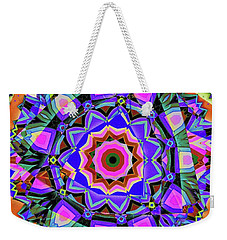 Weekender Tote Bag featuring the digital art Colors O're Laid by Ron Bissett