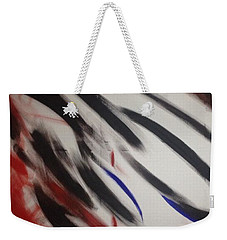 Weekender Tote Bag featuring the painting Abstract Colors by Sheila Mcdonald