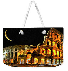 Colosseum Under The Moon Weekender Tote Bag