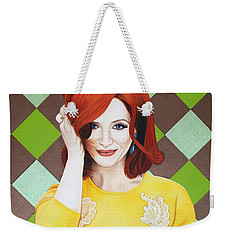 Weekender Tote Bag featuring the painting Colour Inspired Beauty by Malinda Prudhomme