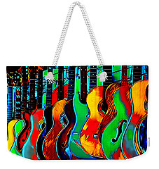 Weekender Tote Bag featuring the digital art Colour Of Music by Pennie McCracken