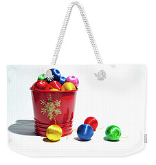 Coloured Baubles In A Pot Weekender Tote Bag