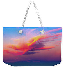 Coloured Feather Clouds Weekender Tote Bag