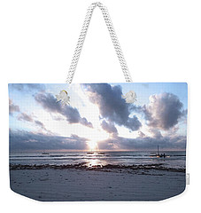 Coloured Sky - Sun Rays And Wooden Dhows Weekender Tote Bag