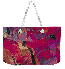 colourful abstract fantasy landscape - Red Mountain Weekender Tote Bag