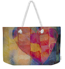 colourful abstract Valentine - Heart Afloat Weekender Tote Bag