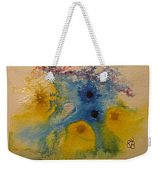 Weekender Tote Bag featuring the drawing Colourful by AJ Brown