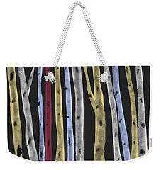 Colourful Birches Weekender Tote Bag