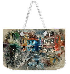 Colourful Burano Weekender Tote Bag by Jack Torcello