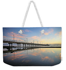 Colourful Cloud Reflections At The Pier Weekender Tote Bag