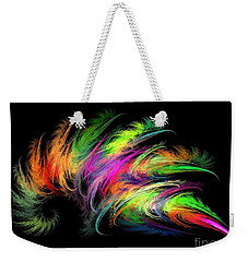 Colourful Feather Weekender Tote Bag by Klara Acel