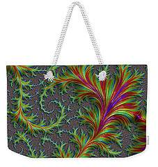 Colourful Fronds Weekender Tote Bag by Rajiv Chopra
