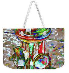 Colourful Hydrant Weekender Tote Bag