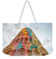 Weekender Tote Bag featuring the mixed media Colourful Leaning Tower Of Pisa by Clare Bambers