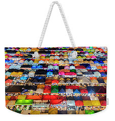 Weekender Tote Bag featuring the photograph Colourful Night Market by Pradeep Raja Prints