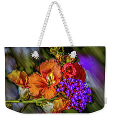Weekender Tote Bag featuring the mixed media Colourful Pb #h8 by Leif Sohlman