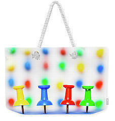 Colourful Pins. Weekender Tote Bag