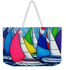 Colourful Regatta Weekender Tote Bag