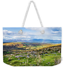 Weekender Tote Bag featuring the photograph Colourful Undulating Irish Landscape In Kerry  by Semmick Photo