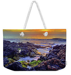 Weekender Tote Bag featuring the photograph Colours Of Molokai by Tara Turner
