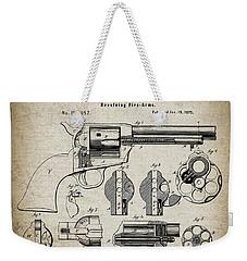 Colt .45 Peacemaker Revolver Patent  1875 Weekender Tote Bag