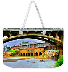Weekender Tote Bag featuring the photograph Columbia Canal At Gervais Street Bridge by Lisa Wooten
