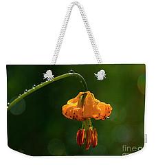 Columbia Lily With Dew Weekender Tote Bag