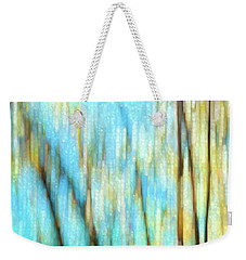 Weekender Tote Bag featuring the photograph Columbia River Abstract by Theresa Tahara