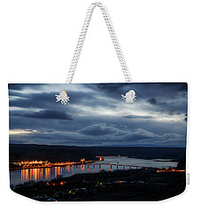 Weekender Tote Bag featuring the photograph Columbia River by Cat Connor