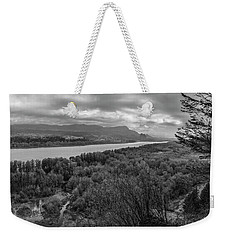 Columbia River Gorge Black And White  Weekender Tote Bag