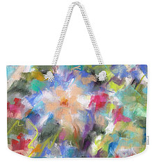 Weekender Tote Bag featuring the painting Columbine In The Wildflowers by Frances Marino