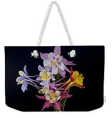 Weekender Tote Bag featuring the photograph Columbine Medley by Gary Lengyel