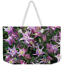 Weekender Tote Bag featuring the photograph Columbine Splendor by Lynda Lehmann