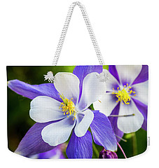 Columbines Inside Weekender Tote Bag by Teri Virbickis