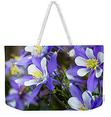 Columbines Weekender Tote Bag by Teri Virbickis