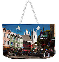 Columbus And Stockton In North Beach Weekender Tote Bag