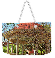 Comal County Gazebo In Main Plaza Weekender Tote Bag by Judy Vincent