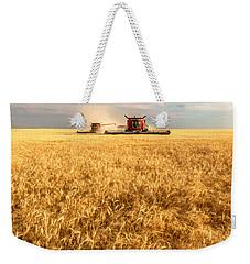 Combines Cutting Wheat Weekender Tote Bag