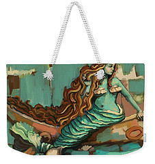 Weekender Tote Bag featuring the painting Come Fly With Me by Carrie Joy Byrnes