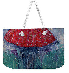 Weekender Tote Bag featuring the painting Come Rain Or Snow by John Stuart Webbstock