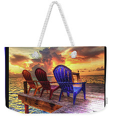 Come Sit A While Weekender Tote Bag