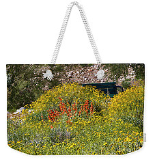 Come Sit Awhile Weekender Tote Bag by Anne Rodkin
