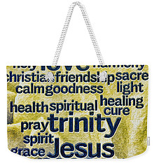 Comfort Words Weekender Tote Bag