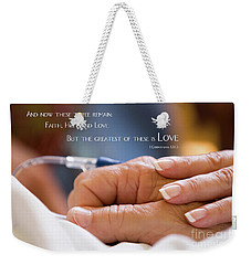 Comforting Hand Of Love Weekender Tote Bag