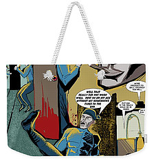 Weekender Tote Bag featuring the drawing Comic Page1 by John Jr Gholson