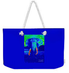 Heat Map Elephant Coming At You In About Ten Seconds Weekender Tote Bag